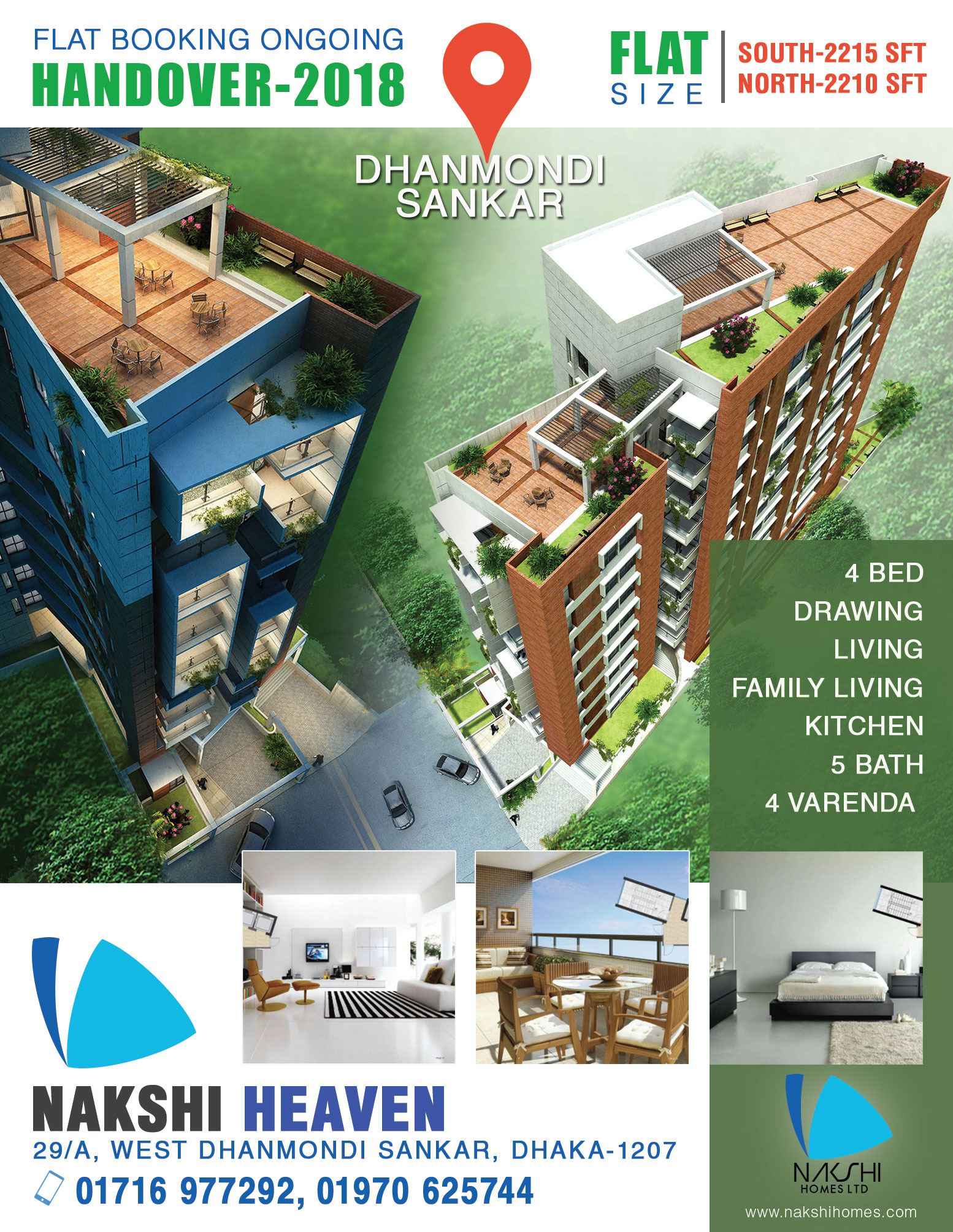 Flat for sale in Dhanmondi